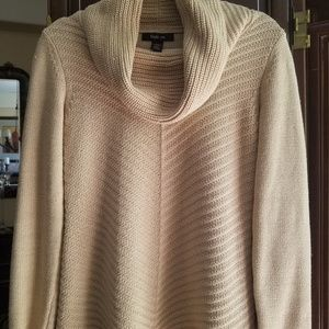 Style &CO long gold metallic sweater
